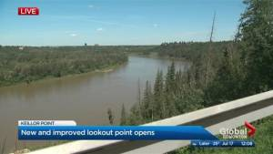 Revamped 'End of the World' lookout officially reopens in Edmonton