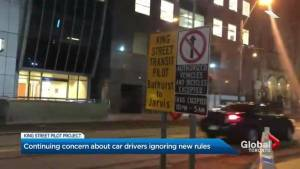 Continuing concern about drivers ignoring King Street pilot project rules
