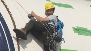 Anti-pipeline protesters climb onto drill