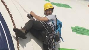 Anti-pipeline protesters climb onto drill