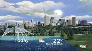 Edmonton early morning weather forecast: Friday, June 15, 2018