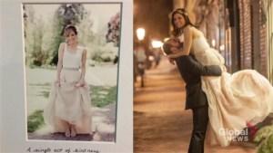 Toronto bride's wedding saved after stranger donates skirt