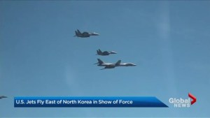 U.S. with show of force for North Korea