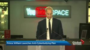 Prince William launches anti-cyberbullying plan