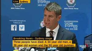 Thoughts of Sydney New South Wales Premier are with families of victims