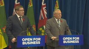 Scott Moe and Doug Ford vow to reduce provincial trade barriers