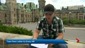 Guelph teen's letters to all MPs about mental health leads to a meeting with Prime Minister's office