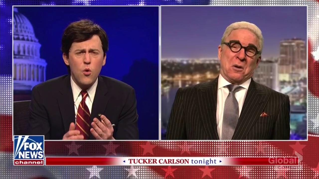 SNL Parodies Tucker Carlson, Features Steve Martin as Roger Stone