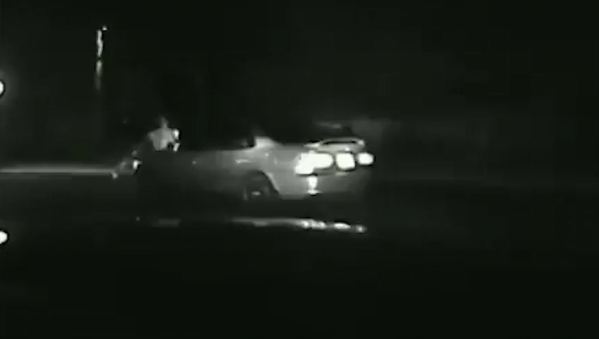 Va. dashcam video: Alleged drunk driver hits himself