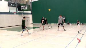 5th-year Saskatchewan Huskies volleyball player leads on court and in classroom