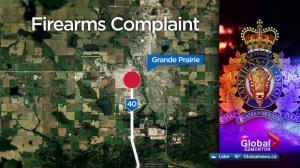 Grande Prairie RCMP look for pickup after shots fired at 3 vehicles