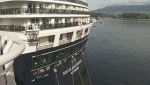 Cruise ships collide at Canada Place in Vancouver