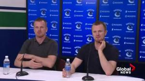 Presser: Daniel and Henrik Sedin announce retirement