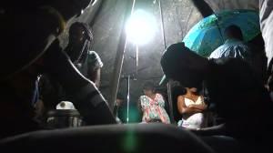 Makeshift hospital set up after Haiti quake kills at least 14