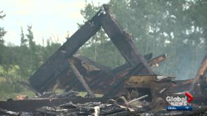 Lightning suspected to be cause of fire that burned down home near Beaumont