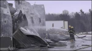 Fire ravages Nicholson Bros Concrete and Construction in Campbellford