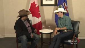 Justin Trudeau meets with Calgary Mayor Naheed Nenshi ahead of Calgary Stampede