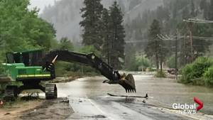 Highway 3 west of Keremeos remains closed, Highway 6 opens 1 lane east of Lumby