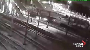 CCTV shows moment high speed train crashes in Turkey