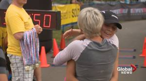 A Calgary mom takes youth in recovery and helps push them to the finish line