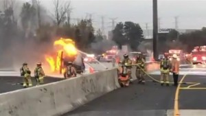 Multiple fatalities in tanker fire collision on Highway 407