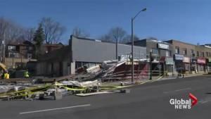 Demolition work halted at Eglinton Crosstown site after scaffolding collapse