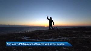 Man treks across Canada