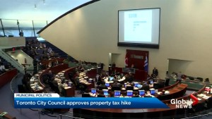 Toronto city council hikes 2019 property taxes, just not too high