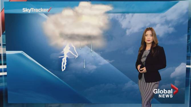 Click to play video: Global News Weather Team Tutorial: thunderstorms