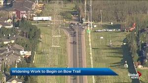 Bow Trail S.W. construction begins