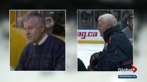 Oilers' Ken Hitchcock explains connection with legendary hockey coach Clare Drake