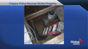 Calgary police uncover hidden underground tunnel filled with stolen goods