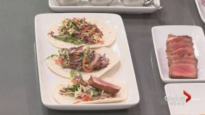 The Keg's Tuna Tacos