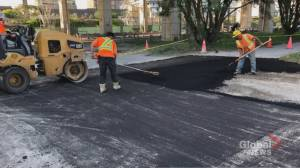 Pothole hero fixes bike trail