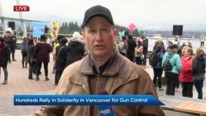 Hundreds rally in solidarity in Vancouver for gun control
