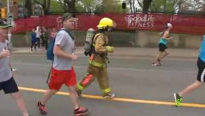 Firefighter runs Bluenose Marathon with 55 lbs of gear on
