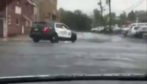 Raw video: gunfire heard in New Jersey purportedly  between police, bombing suspect