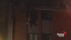 Quebec family jumps from fourth floor to escape fire