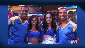 Super Bowl's first ever male cheerleaders make debut