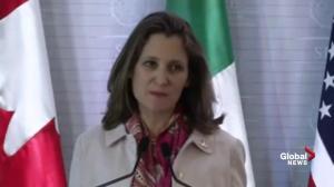 Mexico, U.S. agree to working on restoring Venezuelan democracy: Freeland