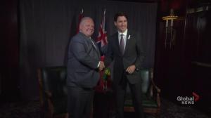 Trudeau, Ford happy to sit down and talk together