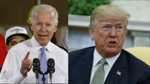 Donald Trump says 'crazy' Joe Biden 'would go down fast and hard, crying all the way' in a fight