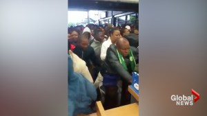 Chaos erupts as Black Friday shoppers rush store in South Africa