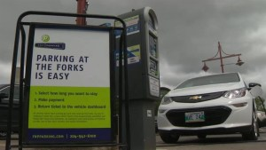 Free parking no longer available at The Forks