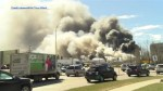 Large industrial fire in Red Deer