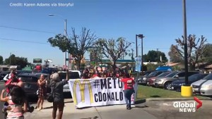 McDonald's employees stage walkout across the U.S. to protest sexual misconduct