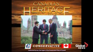 Tories re-post Heritage Minute parody with disclaimer after warning from Historica Canada