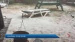 Video captures hailstorm that hit Lower Mainland