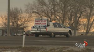 Farmers and ranchers protest Bill 6 with convoy for second day