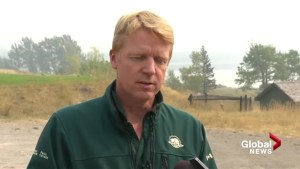 Parks Canada concerned weather change could grow fire into Waterton
